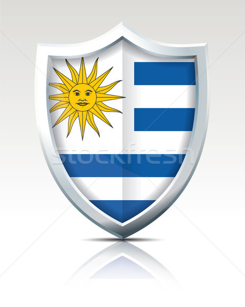 Schild vlag Uruguay stad kaart abstract Stockfoto © ojal