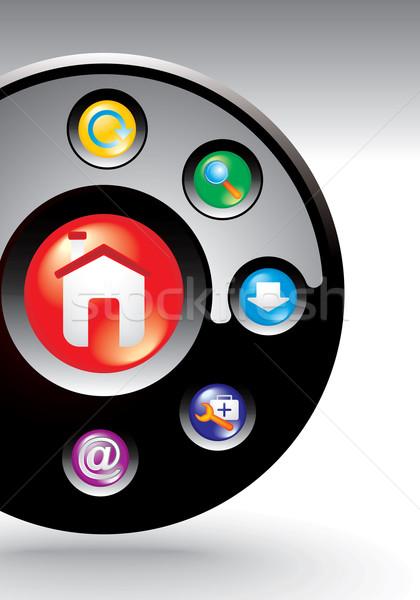 editable website navigation template Stock photo © ojal
