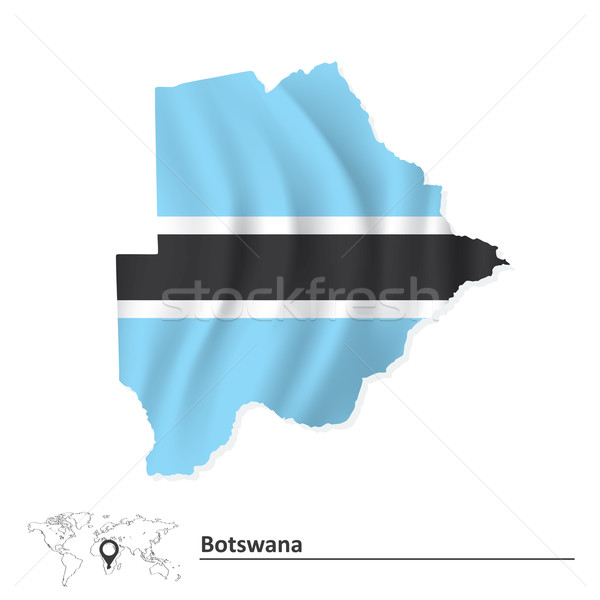 Map of Botswana with flag Stock photo © ojal