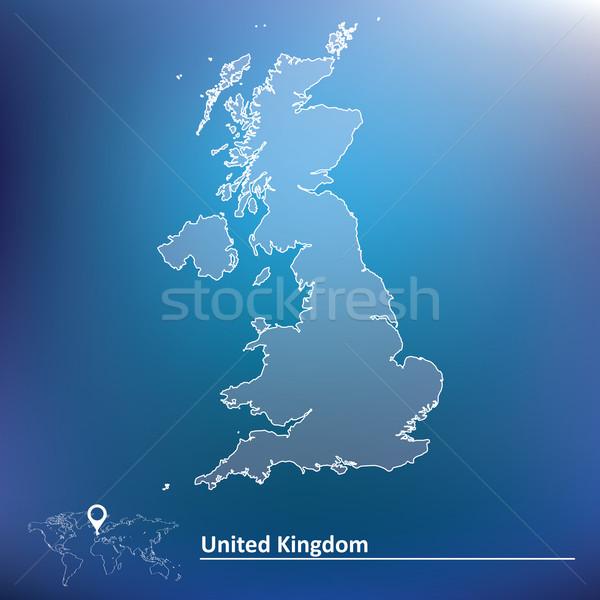 Mappa Regno Unito mare cross sfondo Ocean Foto d'archivio © ojal