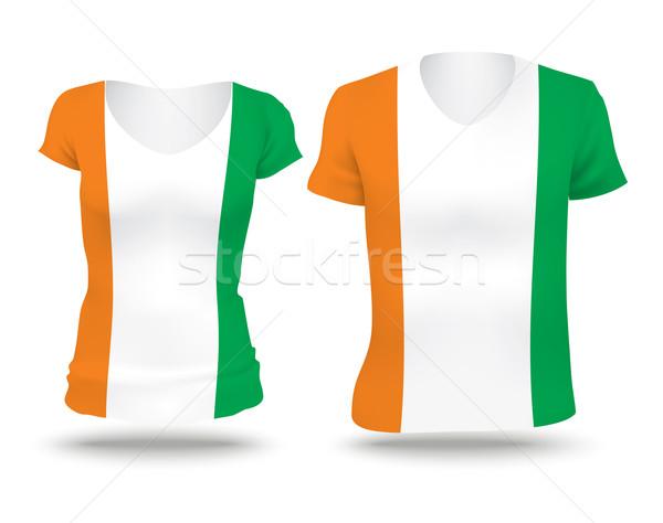 Zászló póló terv part elefántcsont nő Stock fotó © ojal