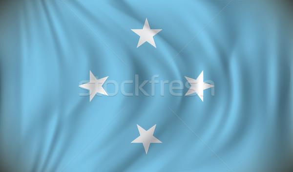 Bandeira Micronésia fundo arte assinar azul Foto stock © ojal