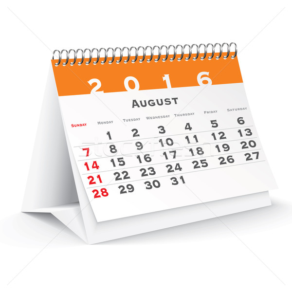August 2016 desk calendar Stock photo © ojal