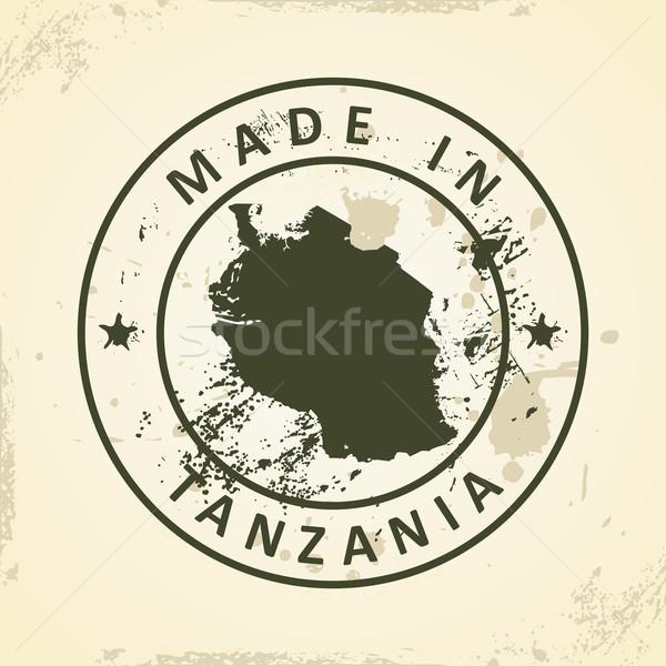 Pieczęć Pokaż Tanzania grunge tekstury streszczenie Zdjęcia stock © ojal