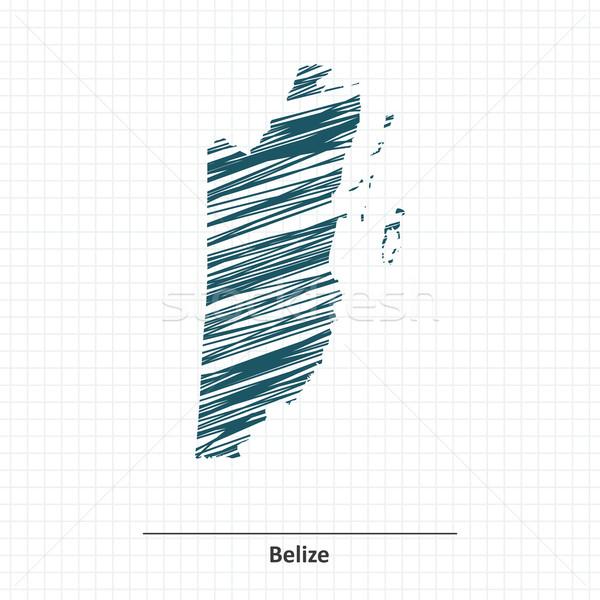 Firka rajz Belize térkép világ Föld Stock fotó © ojal