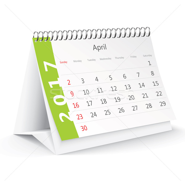 April 2017 desk calendar - vector Stock photo © ojal