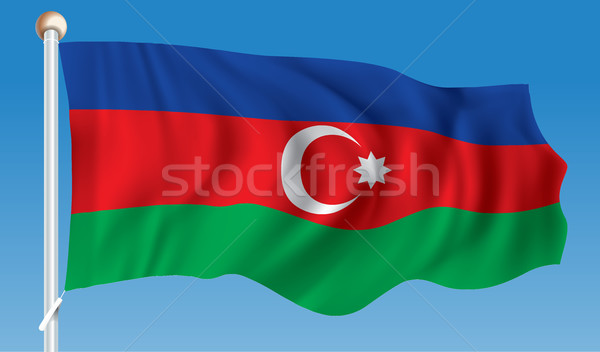 Banderą Azerbejdżan tekstury streszczenie świat tle Zdjęcia stock © ojal