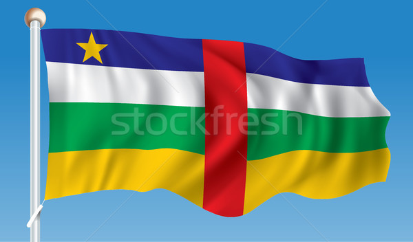 флаг центральный африканских республика текстуры город Сток-фото © ojal