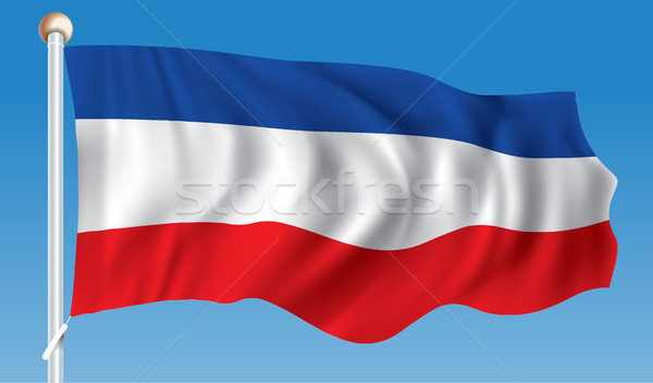 Bandeira Sérvia Montenegro textura projeto azul Foto stock © ojal
