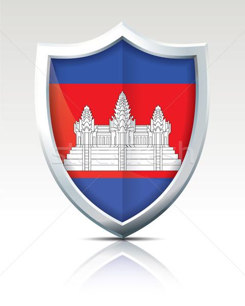 щит флаг Камбоджа город карта аннотация Сток-фото © ojal
