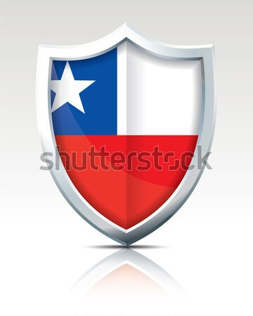 Shield with Flag of Chile Stock photo © ojal