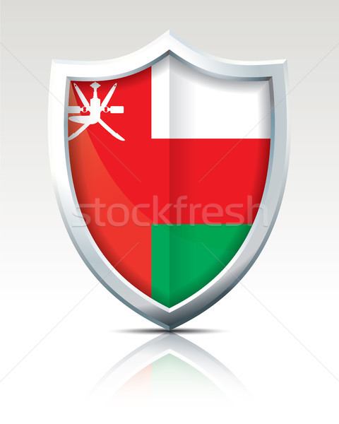 Escudo bandeira Omã verde viajar vermelho Foto stock © ojal