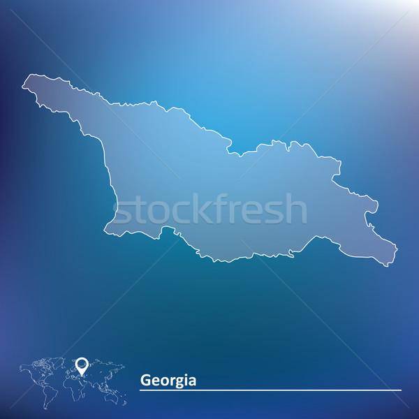 Mappa Georgia texture design mondo cross Foto d'archivio © ojal