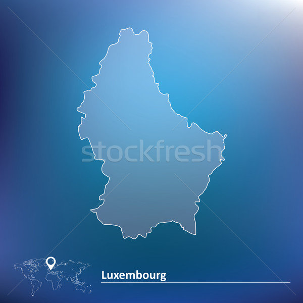 Mappa Lussemburgo texture abstract mondo blu Foto d'archivio © ojal