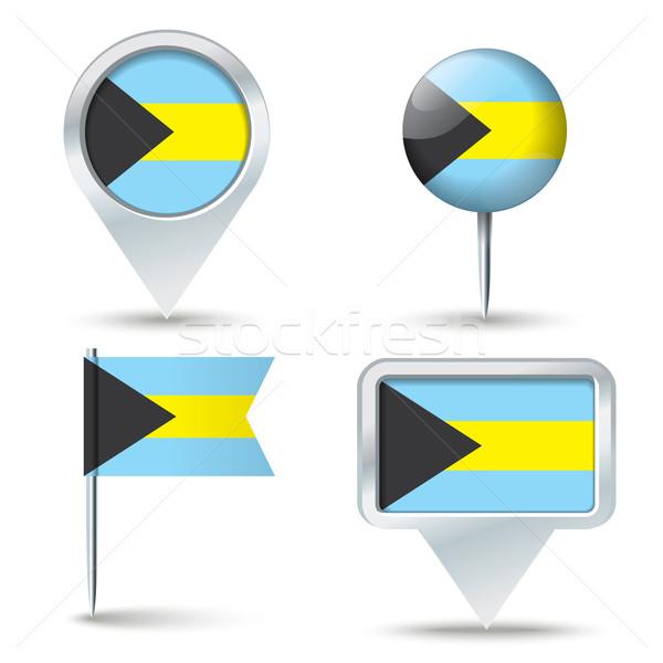 карта флаг Багамские острова бизнеса дороги белый Сток-фото © ojal