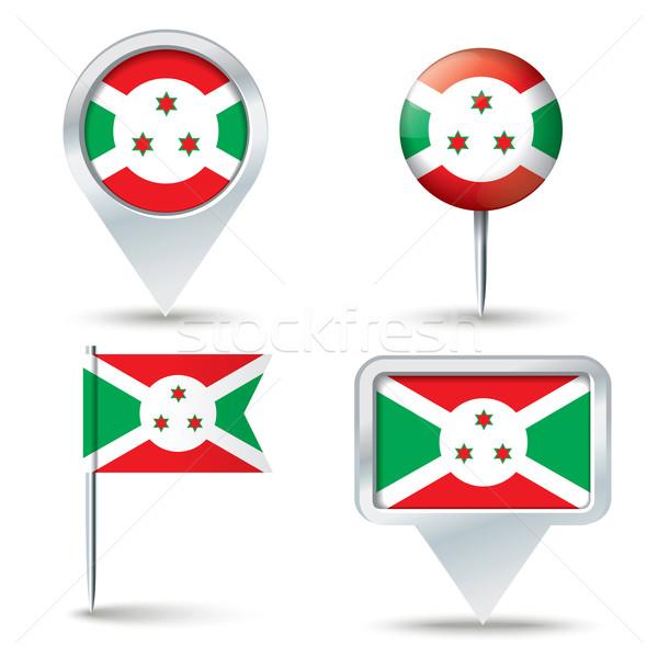 Mapa bandeira Burundi negócio estrada branco Foto stock © ojal