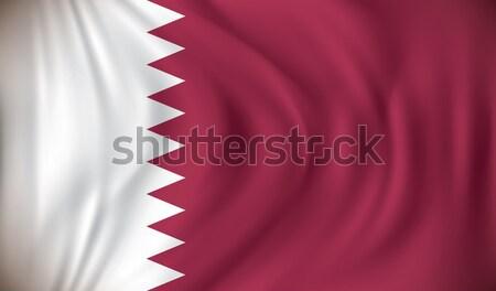 флаг Катар путешествия силуэта диаграммы рисунок Сток-фото © ojal