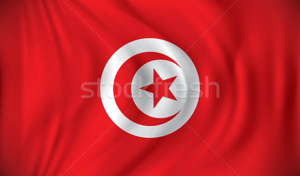 Bayrak Tunus ay arka plan imzalamak star Stok fotoğraf © ojal
