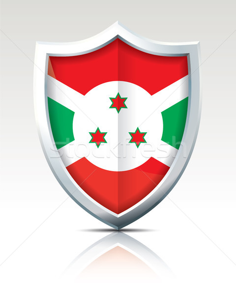 Shield with Flag of Burundi Stock photo © ojal
