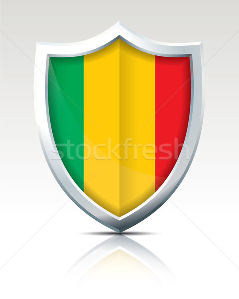 Shield with Flag of Mali Stock photo © ojal