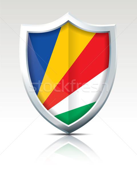 щит флаг Сейшельские острова дизайна искусства знак Сток-фото © ojal