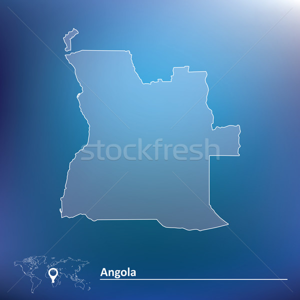 карта Ангола Мир путешествия флаг диаграммы Сток-фото © ojal