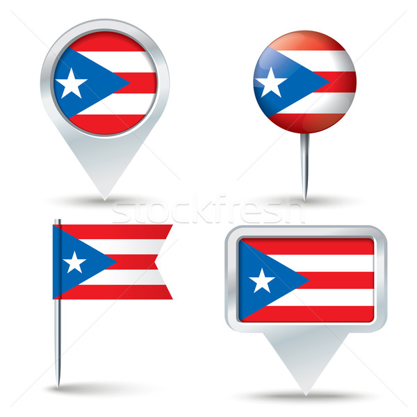 Kaart vlag Puerto Rico business weg reizen Stockfoto © ojal