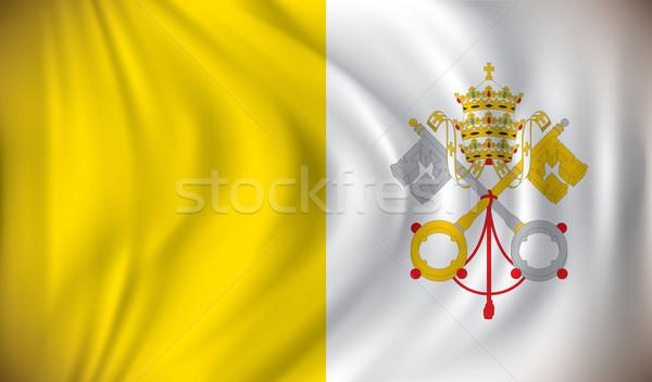 Banderą watykan świat podróży sylwetka kraju Zdjęcia stock © ojal
