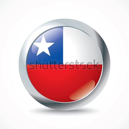 Şili bayrak düğme doku dünya toprak Stok fotoğraf © ojal