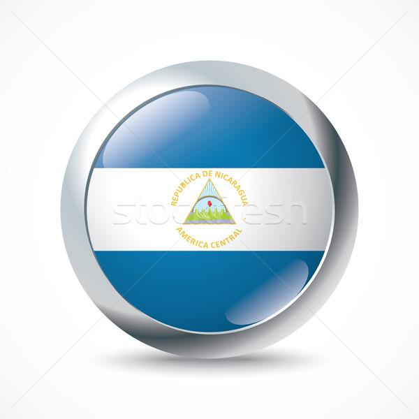 Nicaragua flag button Stock photo © ojal