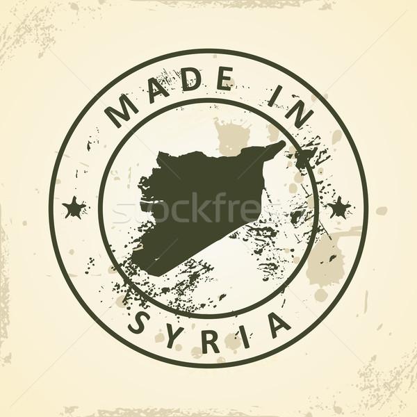 Carimbo mapa Síria grunge textura mundo Foto stock © ojal