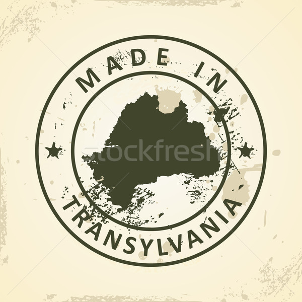 Stamp with map of Transylvania Stock photo © ojal