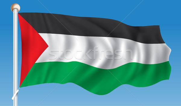 Flag of Gaza Strip Stock photo © ojal
