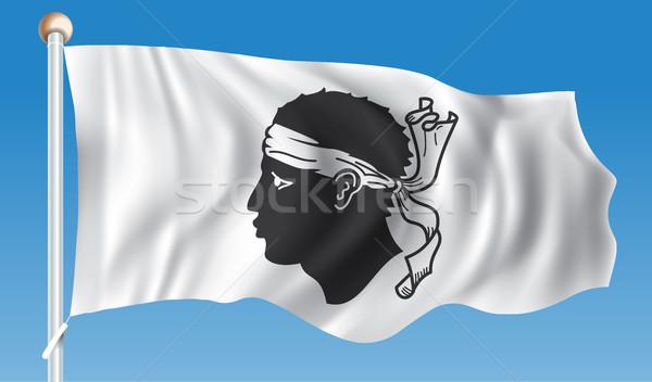 флаг Корсика Мир знак путешествия цвета Сток-фото © ojal