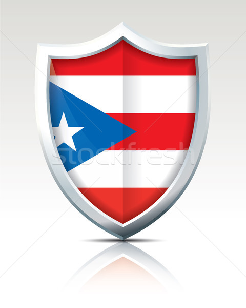 Shield with Flag of Puerto Rico Stock photo © ojal