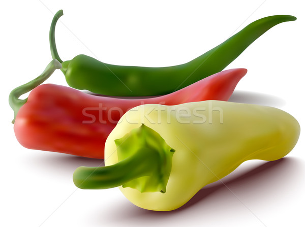 vector red, green and yellow peppers Stock photo © ojal