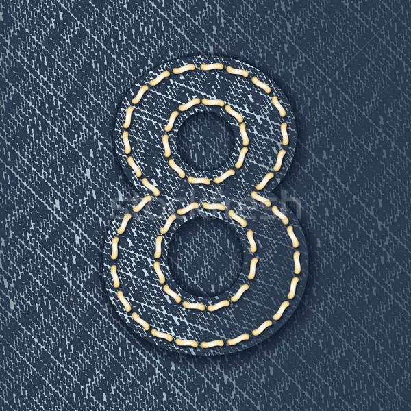 Stockfoto: Aantal · jeans · weefsel · brief · doek · mooie