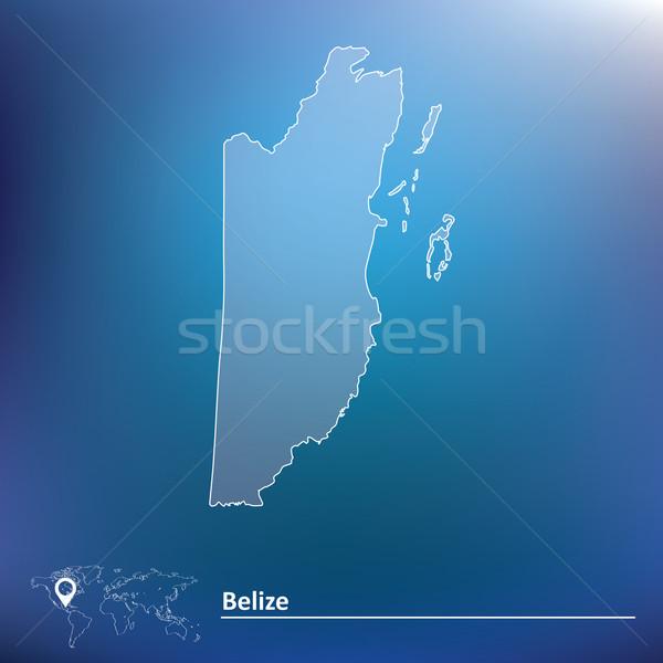 карта Белиз Мир земле искусства путешествия Сток-фото © ojal