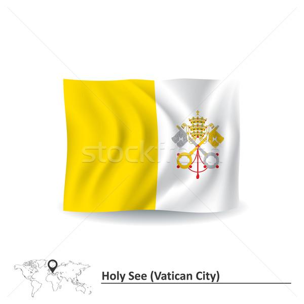 флаг Ватикан город путешествия силуэта цвета Сток-фото © ojal