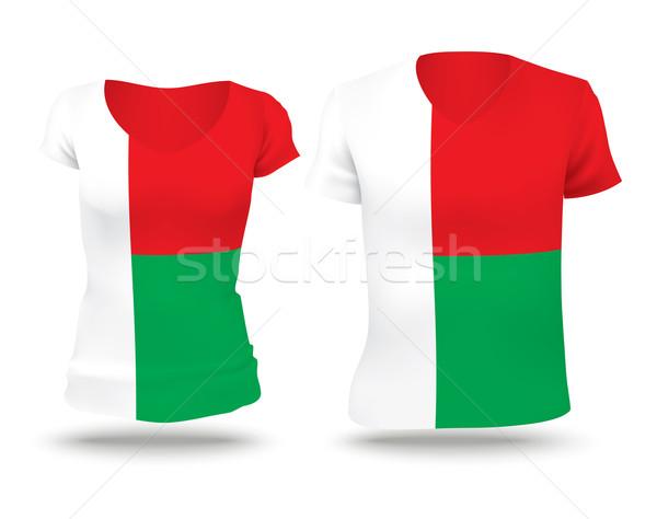 Pavillon shirt design Madagascar femme homme Photo stock © ojal