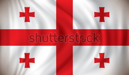 Bandiera Georgia texture mappa abstract mondo Foto d'archivio © ojal
