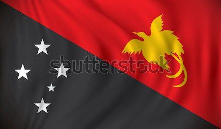 флаг Папуа-Новая Гвинея Мир фон знак путешествия Сток-фото © ojal