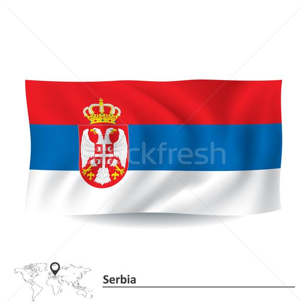 Bandera Serbia textura signo silueta viento Foto stock © ojal
