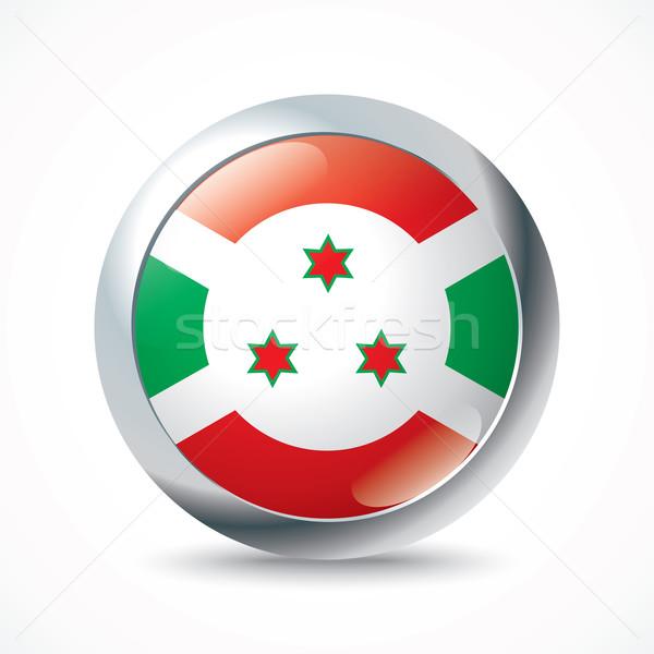 Burundi bandeira botão textura projeto assinar Foto stock © ojal