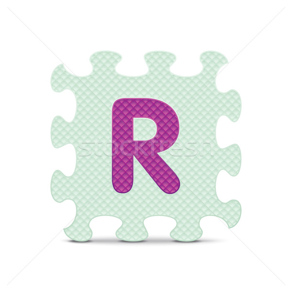 Vector letter 'R' written with alphabet puzzle Stock photo © ojal