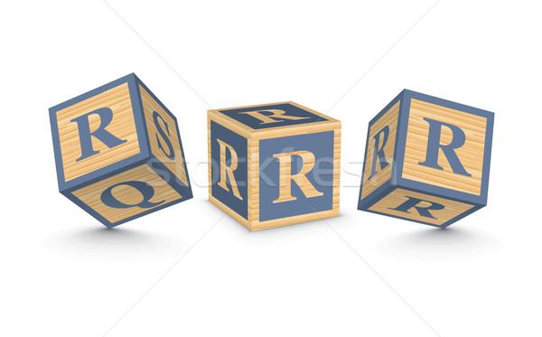 Stok fotoğraf: Vektör · ahşap · alfabe · bloklar · iş