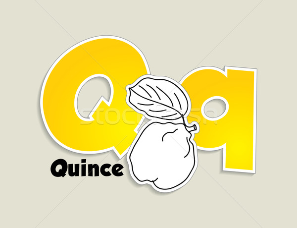 Fruits and vegetables alphabet - letter Q Stock photo © ojal