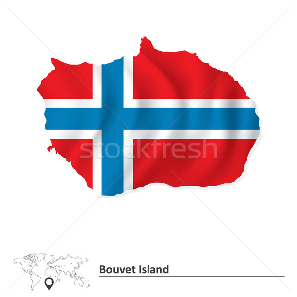 Map of Bouvet Island with flag Stock photo © ojal