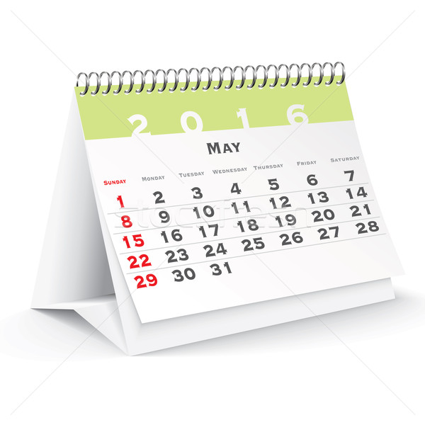 May 2016 desk calendar Stock photo © ojal