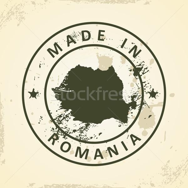 Pieczęć Pokaż Rumunia grunge świat sztuki Zdjęcia stock © ojal
